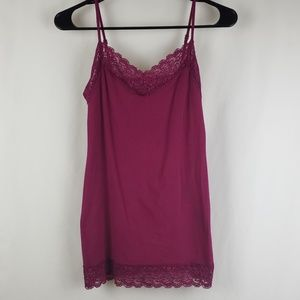 Old Navy Pink Camisole Lace Trim Small